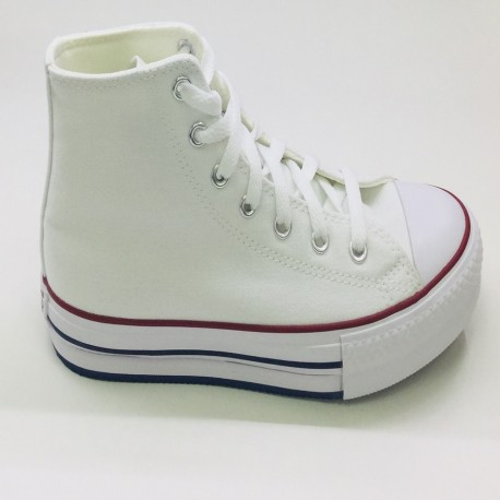 CONVERSE WHITE DOBLE SUELA