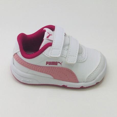 PUMA STEP WHITE-ROSA